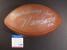 JOE NAMATH #12 BROADWAY HOF/85 SIGNED AUTOGRAPHED WILSON OFFICIAL NFL BALL PSA