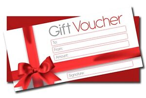 6 x Blank Money Gift Vouchers Certificates + Luxury Red Envelopes Red Bow Design