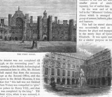 HAMPTON COURT PALACE . The First Court; Fountain Court 1888 old antique print