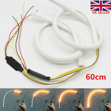 2x 60cm LED Sequential Switchback DRL Strip Light Daytime Running Turn Signal UK