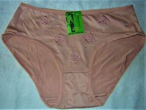 NEU! Damenslip Schlüpfer Unterhose 3447 schwarz Muster Bambus Gr 42 44