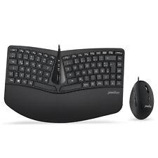 Perixx Periduo-406, Ergonomische Kompakte Tastatur Vertikale Maus Desktop Set
