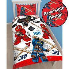 OFFICIAL LEGO NINJAGO WARRIOR SINGLE DUVET COVER SET ROTARY DESIGN KIDS BEDDING