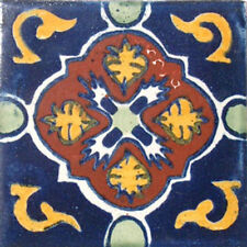 90 MEXICAN CERAMIC TILES WALL OR FLOOR USE CLAY TALAVERA MEXICO POTTERY #C021