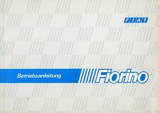 1985 FIAT FIORINO BETRIEBSANLEITUNG OWNER'S MANUAL DEUTSCH GERMAN