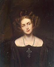 Delaroche Portrait of Henrietta Sontag artiste tableau huile sur toile peinture