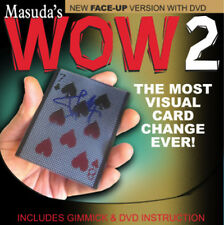 ORIGINAL WOW 2.0 Face Up Version w/DVD by Masuda playing cards magic trick