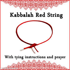 Kabbalah Red String Bracelet tying instructions and Ben Porat prayer hamsa eye