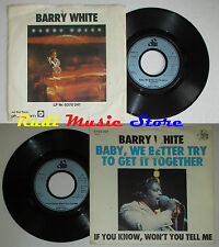 LP 45 7'' BARRY WHITE Baby we better try to get together 1976 germany cd mc dvd