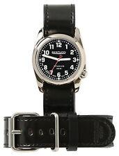 Bertucci Heritage 12104H Black / Black Leather Analog Quartz Unisex Watch