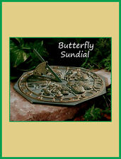 Whitehall Butterfly Sundial Ships Same Day & Free - French Bronze - Rust-Free