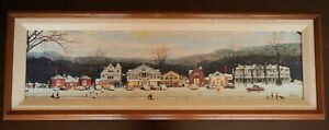 "Norman Rockwell ""Main Street Stockbridge"" Winter Framed Canvas 1992 Edition"
