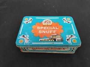 1960s Vintage Old Banarsi Dass Roshanlal Char Ganesha Special Snuff Tin Box