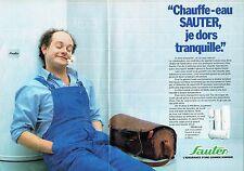 Publicité Advertising 037  1986  Chauffe-eau Sauter (2p) plombier dors tranquill
