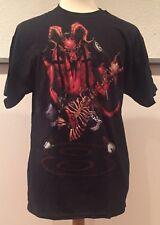 Guitar Hero Devil Satan 2007 World Tour Legends Of Rock T Shirt Tee Large