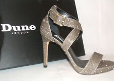 b3bb35f21bad DUNE LONDON CHEEKY GOLD HIGH HEEL STRAPPY SANDALS SHOES RRP £75.00 SIZE 5