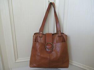Medium thick leather shoulder bag - 2 handles, M&S