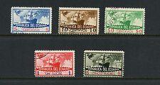 Ecuador 1935 #C38A-E Columbus ships maps airmails 5v. used I921