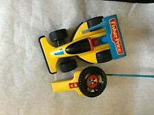Vintage 2085 fischer price car 1992 Yellow Remote Controlled