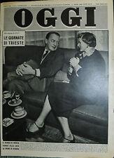 OGGI N°14 /3/APR/1952 * LE GIORNATE DI TRIESTE - IL BIMBO DI INGRID BERGMAN *