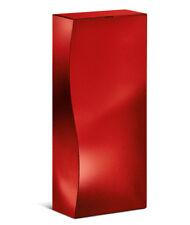 12 x Präsentverpackung aus Pappe für 3 x 0,75 L Wein, Skulptur, rot-metallic