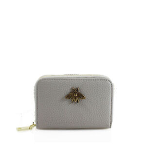 Ladies Bee Decoration 11 Slots Card Holder Zip Closure Small Pouch KB11