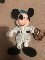 Vintage Baseball Mickey Mouse Plush Soft Toy From Walt Disney World 28cm Tall