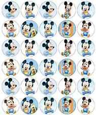 Mickey Mouse Baby Birthday Cupcake Toppers Edible Paper BUY 2 GET 3RD FREE!