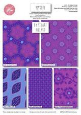 Makoti Indian Summer Purple Blue Fat quarters Bundle x 5. Craft quilting cotton