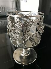 Bath and Bodyworks 3 wick butterfly candle pedestal holder