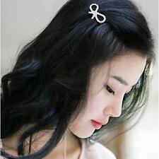 Women Girl's Elegant Full Diamond Bowknot Hair Clip DIY Decor Hairpin Barrette
