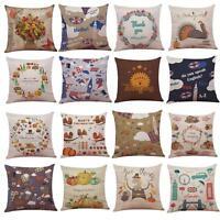 Thanksgiving Pumpkin Sofa Throw Pillow Case Home Decor Square Cushion Cover Liu9