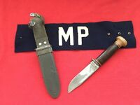 WW2 - ROBESON MARK 1 - USN - No. 20 - Wood Butt - CORRECT SHEATH - MP ARM BAND