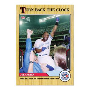2021 Topps Now Turn Back the Clock #206 Joe Carter Toronto Blue Jays PRESALE