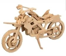 Cross Country Motorcycle Wood 3D Model Kit CX 501 Bike *** New ***