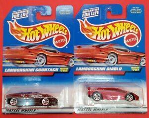 (2) Hot Wheels 1997 Lamborghini Diablo #781 & Lamborghini Countach #768 - NIP