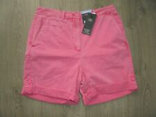 M&S MARKS & SPENCER BRIGHT PINK COTTON SHORTS UK SIZE 8