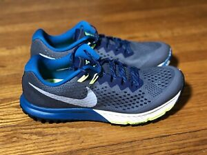 Nike Zoom Terra Kiger 4 Trail Running Shoes 'Grey/Blue' - Size 9 - 880563-005