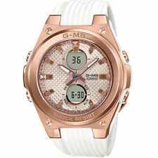 G-MS By Casio Women's Analog-Digital MSGC100G-7A Watch Rose Gold/White Timepiece
