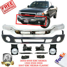 Front Bumper Chrome + Bracket + Valance + Fog Light / For 2003-2007 Gmc Sierra (Fits: Gmc)