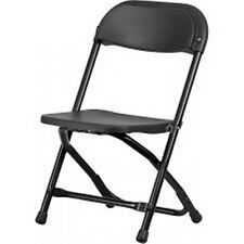 KIDS BLACK PLASTIC FOLDING CHAIR 1 FACTORY SEAL & FAST FREE SHIPPING
