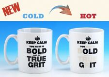 Bold True Grit Heat Changing Mug Adult Office Novelty Funny Mugs Joke Gift