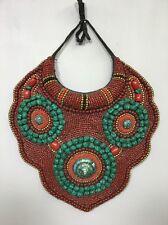 Tibetan Coral Turquoise Beaded Collar
