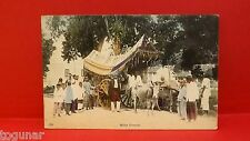 1900s Scene Malay Festival w/ People & Decorated Animal Cart Pc
