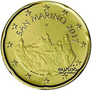 Pièce 0,20 euros ou 20 cent SAINT MARIN 2017  Les Trois Tours - Nouvelle Effigie