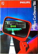 Prospetto PHILIPS Carstereo 1986 autoradio amplificatore altoparlanti programma globale