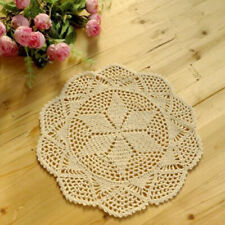4x Handmade Lace Cup Mats Wedding Party Table Topper Table Cover Place Mat