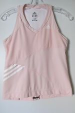 Adidas Clima 365 Pink Supernova V-Neck Athletic Support Tank Top SIZE:M NWOT