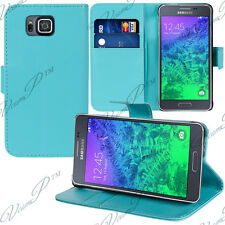 Etui Coque Housse Portefeuille Video BLEU Samsung Galaxy Alpha/ Alfa SM-G850FQ