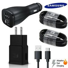 Original Samsung Galaxy Note8 S8 S9 Plus Fast Charger Car Wall 4FT Type C Cable